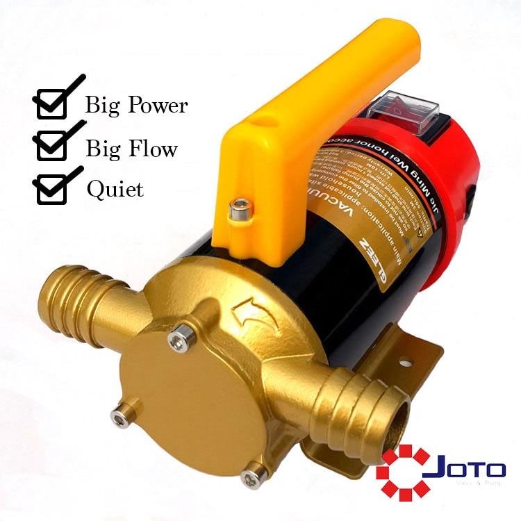 12V DC Oil Transfer Pump Reversible 12V Diesel Self-priming Oil Pump fp 12 12v dc gear oil pump self priming pump diesel pump suction pump miniature 168w