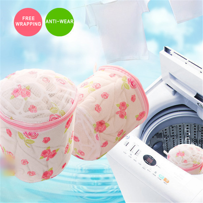 TTLIFE New Women Lingerie Underwear Bra Sock Laundry Basket mesh bag Washing Aid Net Mesh Zip Bag