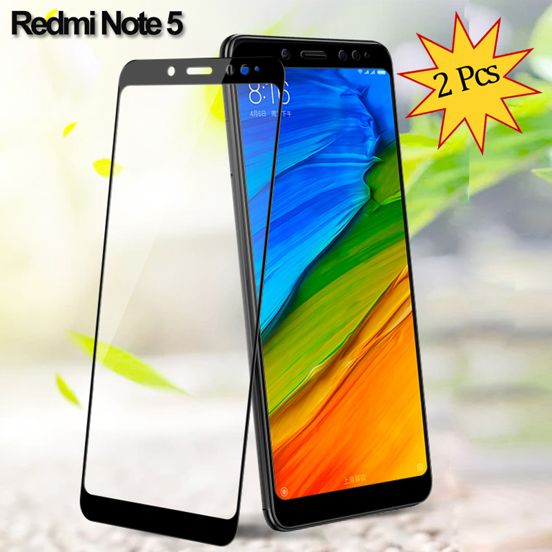 2 Pieces Glass for Redmi Note 5 Tempered Glass Screen Protector Xiaomi Redmi Note 5 Screen Protector Redmi Note 5 Glass Film in Phone Screen Protectors from Cellphones Telecommunications