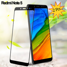 2 Pieces Glass for Redmi Note 5 Tempered Glass Screen Protector Xiaomi Redmi Note 5 Screen Protector Redmi Note 5 Glass Film makibes toughened glass screen protector film for xiaomi redmi note 2