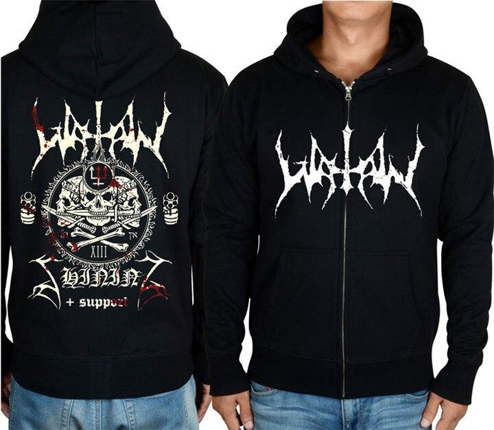 Punk noir Egypte Démon Mal 2 Noir Harajuku Sortes Hardrock Marque Watain Rock Hoodies shirt Polaire Beige Sweat Sweat Veste Zipper Y0qH7w0