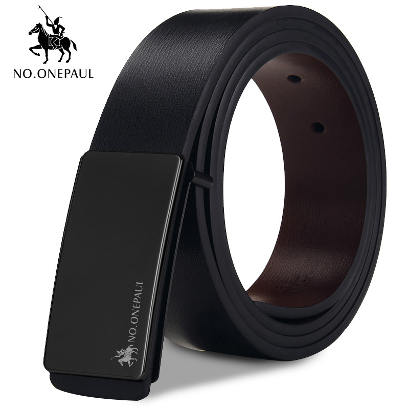 NO.ONEPAUL Vintage Jeans Cowboy Casual Designer New Brand Belt Cowhide Genuine Leather Belt For Men Strap Male Smooth Buckle