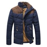 DIMUSI Giyim Kış Ceket Erkekler Sıcak Nedensel Parkas Pamuk Bantlı Yaka Kış Ceket Erkek Yastıklı Palto Giyim, YA332
