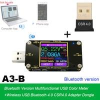 USB and Type-c tester Wireless Bluetooth DC Digital voltmeter current voltage meter detector + Wireless Bluetooth Adapter Dongle