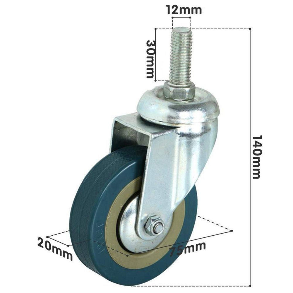 4x Heavy Duty 75mm Swivel Castor with Brake Trolley Casters wheels for Furniture Furniture Casters Activity With Brake Caster4x Heavy Duty 75mm Swivel Castor with Brake Trolley Casters wheels for Furniture Furniture Casters Activity With Brake Caster