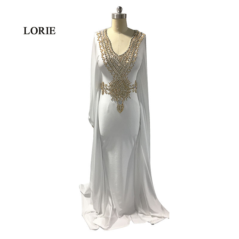 Evening Dresses Lorie Moroccan Kaftan Aarabic Evening Gowns Dresses Dubai Velvet Prom Dress With Gold Lace Green Ral Photo Muslim Abaya Gown Modern Design
