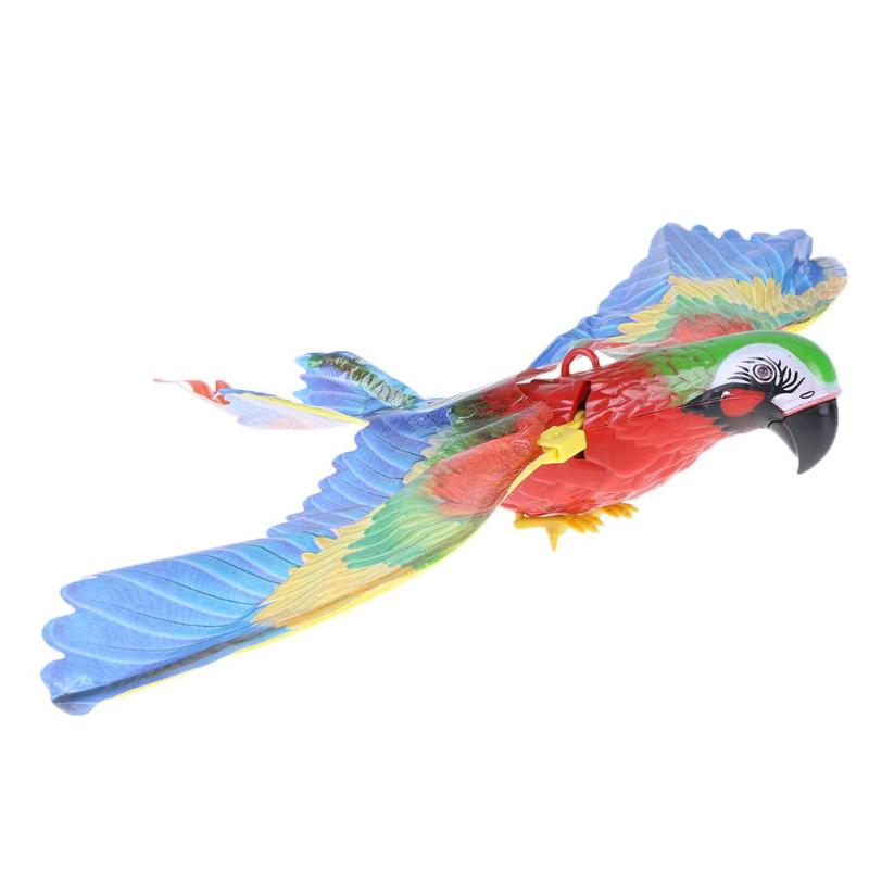 Colorful  Pet Bird Parrot Toy Plastic Electric Sound Fly Wing Talking Lovebird Animals Battery Power Toys For Children Gift