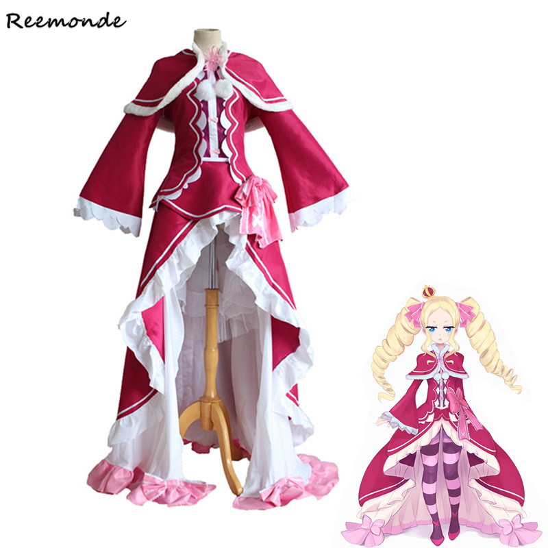 Re Zero kara Hajimeru Isekai Seikatsu Cosplay Costume Beatrice Princess Dress Cloak Socks Full Set For Women Girls Clothing
