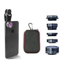 Kogngu 5 in 1 Fisheye Camera Lenses Wide Angle Lente Macro P
