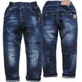 6038 kids jeans  navy blue casual pants trousers hole boys jeans baby jeans soft denim pants kids child