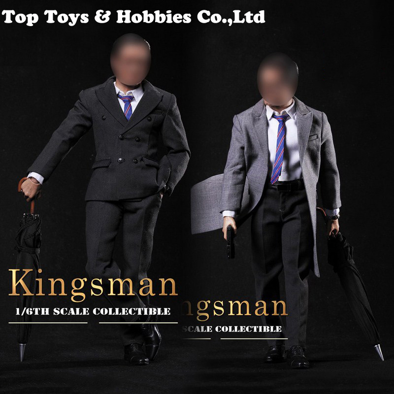 1/6th Male Agent Clothing Set Gentleman Suit Set No Leather Shoes Tie With Shirt For 12 Inches Man Action Figure