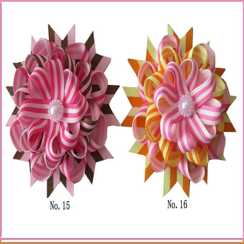 "50 BLESSING Good Girl Boutique Modern Style 3.5/"" Satin Bird/'s Nest Hair Bow Clip"