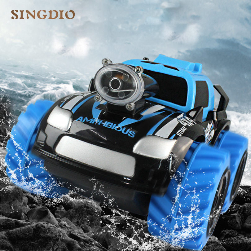 2.4GHz Stunt Remote control car Amphibious with Wifi FPV HD camera Real time transmission Kids gift Toys Smart Phone RC Model