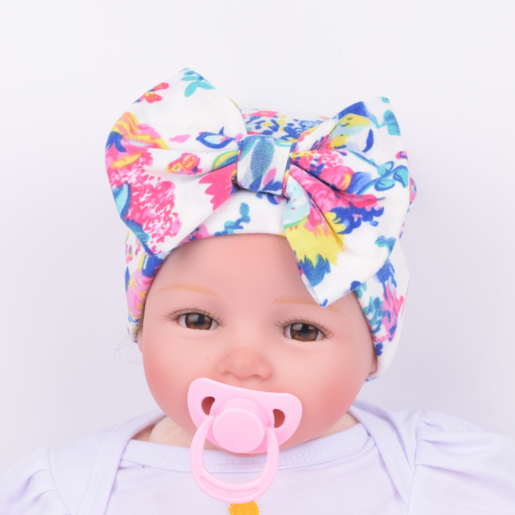 6cc36f838e4ac Aliexpress.com   Buy 2017 Newborn Kids Muts Cute Hat Stripe Bow print  Nursery Hat Cap with Big Bow headband newborn headband from Reliable bow  bow suppliers ...