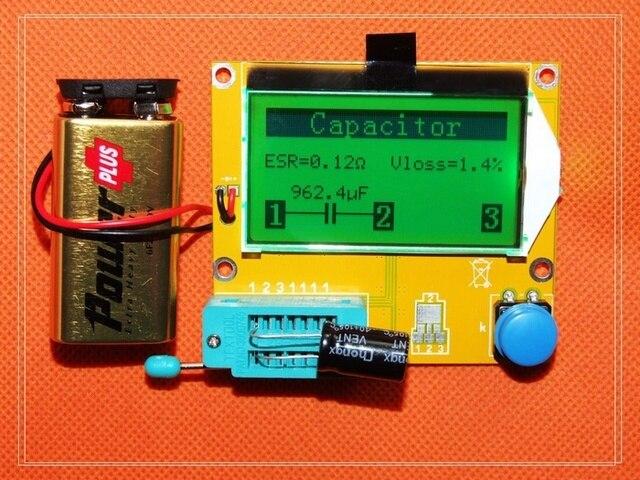 Freies verschiffen, LCR-T4 grafische multifunktions tester kondensator + induktivität + widerstand + SCR, Englisch version
