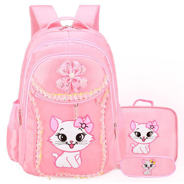 20db7a6f94f8 3PCS School Backpack For Girls Cartoon Hello Kitty School Bags Kindergarten Children  Cute Bookbag Kids Mochila Infantil Rucksack