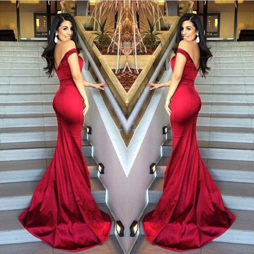5b95fda84d Sexy Off Shoulder Long Prom Dresses 2016 Mermaid Burgundy Prom Gowns  Backless Women Formal Party Dress
