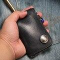 Nuevos Hombres de Cuero Genuino Llave Del Coche Carteras Moda Mujeres Ama de casa tarjeta Llaveros Cubre Clave Zipper Case Bolsa Bolsa Monedero 502