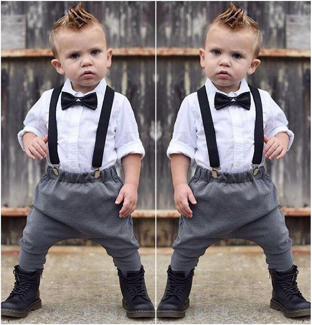 564ec6fa8 2Pcs Fashion Newborn Infant Baby Boys Gentleman Clothes Tie Long ...