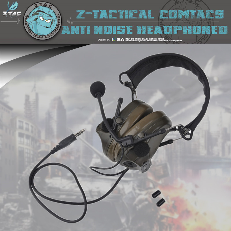 Genuine Latest Upgrade Z051 Z-tactical Headset Flexible Comtac III C3 Peltor Headset 4 Kinds Of Color
