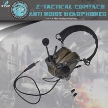 Z-TAC  Peltor Comtac III Tactical Headphones Active Noise Canceling Shooting Headset U94  PTT For Walkie-talkie Softair Z051