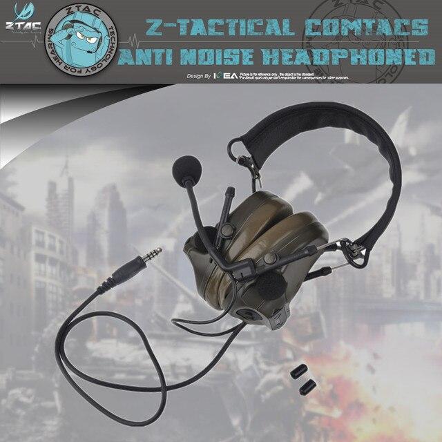 Подлинная последние обновления Z051 Z-тактическая гарнитура гибкие Comtac III C3 Peltor гарнитура 4 вида цвета