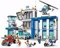 Bela 10424 890 unids Ciudad Comisaría building blocks Figuras de Acción conjunto helicóptero celda Compatible