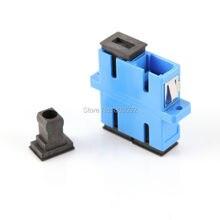 10 шт. SC-SC двусторонний волоконно-оптический адаптер оптический Duplexer соединитель синий разъем волоконный переходник с удлинителем