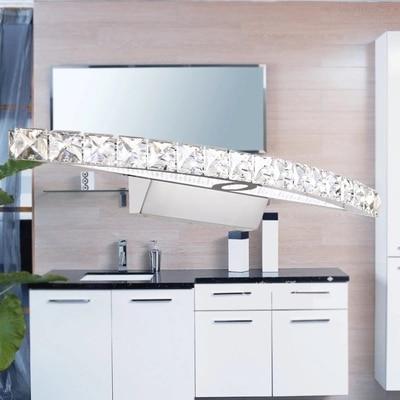Simple Modern Crystal Wall Sconce Waterproof Bathroom Wall Lamp LED Mirror Light Fixtures For Home Indoor Lighting Lampe Murale