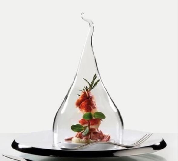 Skaidrus stiklo pyragas duonos dūminis maisto užkandis vaisių dubenėlį padengti šviežių laikymo dangteliai
