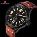 Relojes hombres NAVIFORCE marca de Moda de Cuero reloj de Cuarzo Ocasional reloj hombre Militar Del Ejército reloj Deportivo relogio masculino