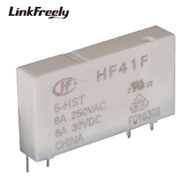 HF41F 5-HST 4 Pin PCB Micro Voltage Relay Switch Module 5VDC Input 250VAC/30VDC 6A Output,Smart Auto Electromagnetic Bank
