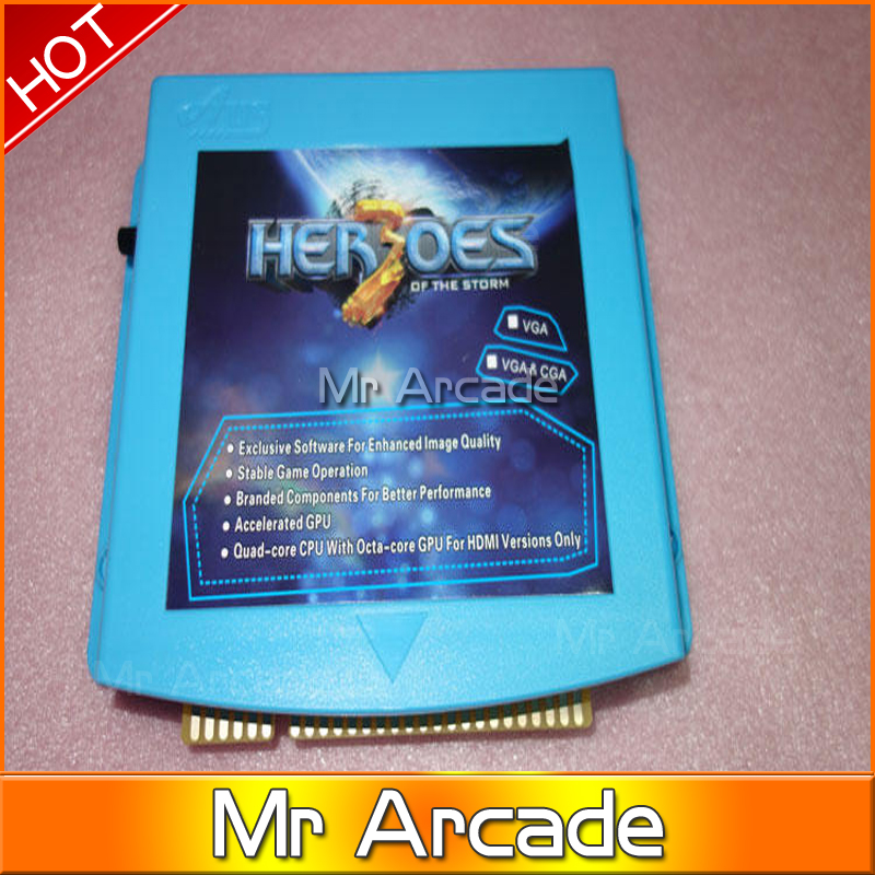 645 in 1 hero storm 3 VGA CGA output for LCD CRT jamma arcade cabinet machine