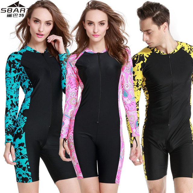 SBART long Sleeve Swimwear Women One Piece Swimsuit Surfing Suit Women s  Swimsuits Rashguard Swimming Suit For Women Wetsuit 67d4b18c4