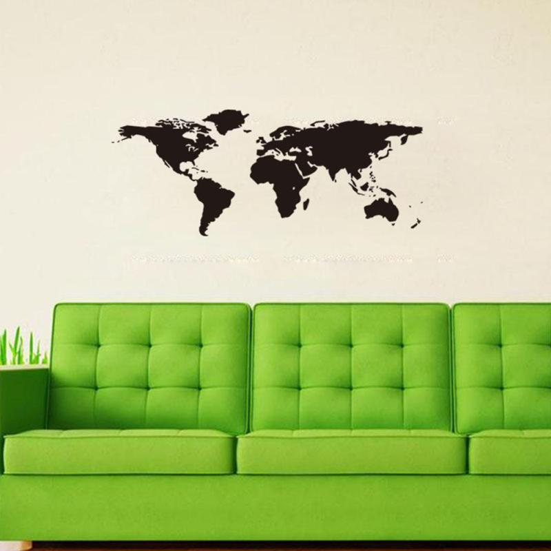 Online shop nai yue world map wall stickers black printed bedroom online shop nai yue world map wall stickers black printed bedroom decorative poster removable adhesive vinyl space wall decal 25 aliexpress mobile gumiabroncs Choice Image