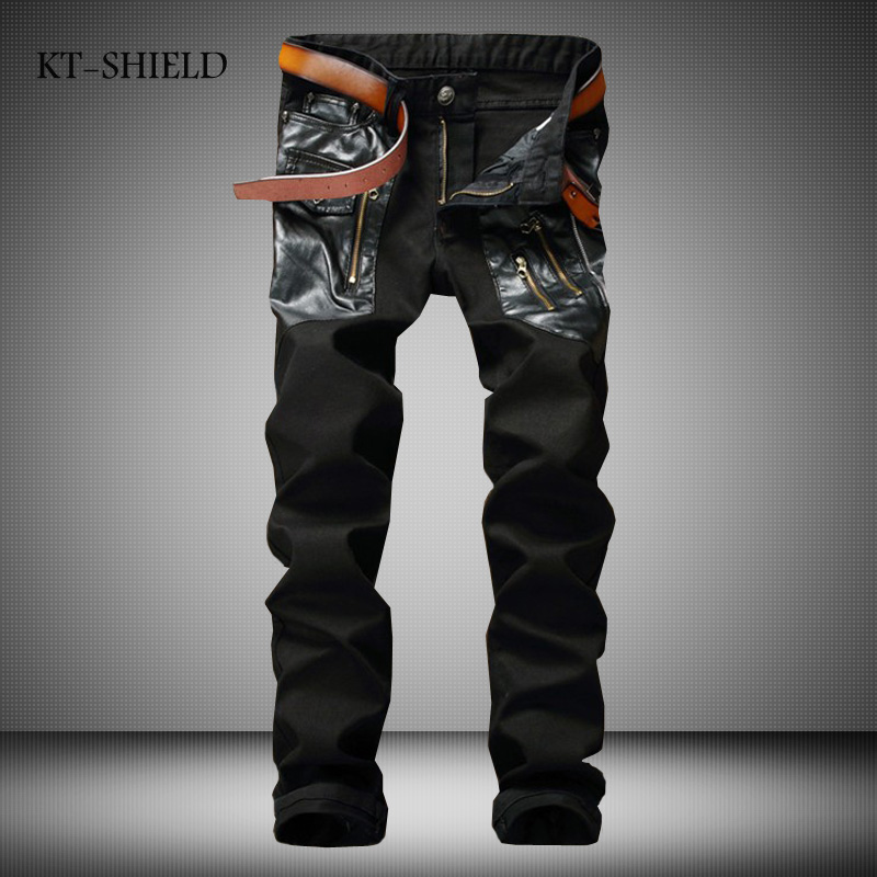 Famous Brand Overall Pants Fashion Designer Jeans Men Straight Black Color Printed Mens Ripped Jeans,Skinny Biker Jeans Homme