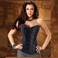 waist shaper corsets sexy steampunk body shaper gothic clothing black overbust corselet waist trainer corsets and bustiers