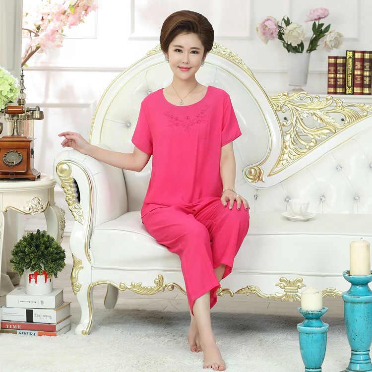 ... New Green Print Female Pajamas Set Sleepwear Chinese Women Cotton Linen  Pyjamas Suit Flower Nightwear M L ... 94521ea7e