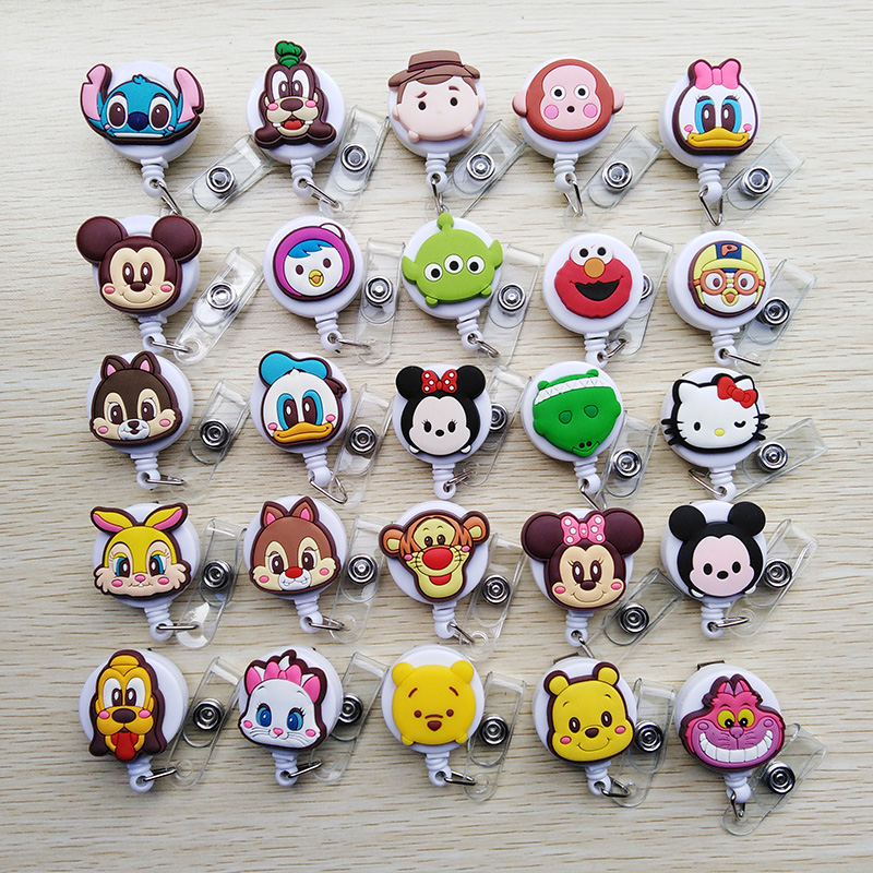 Big Sale Mini Animal Family Retractable Badge Reel Student Nurse Exihibiton Id Identification Card Badge Holder Office Supplies Back To Search Resultsoffice & School Supplies