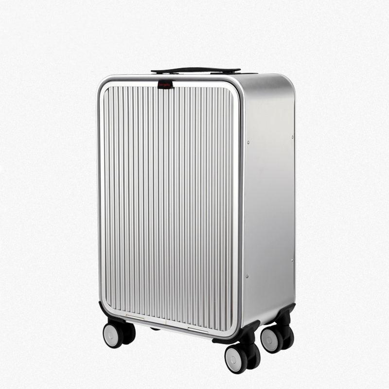 20 24 inch 100 Aluminum Alloy Business Travel Malas de viagem com rodinhas TSA Lock Cabin