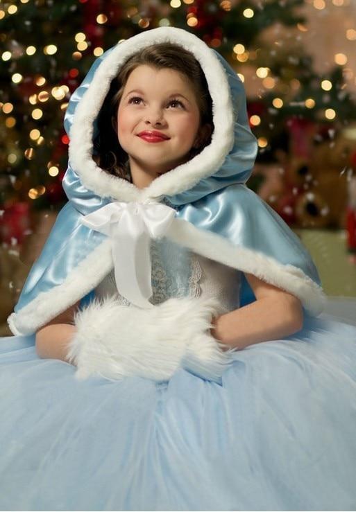 New Cinderella Kids Dress Retail Princess Girl Dress With cape wedding For Cinde