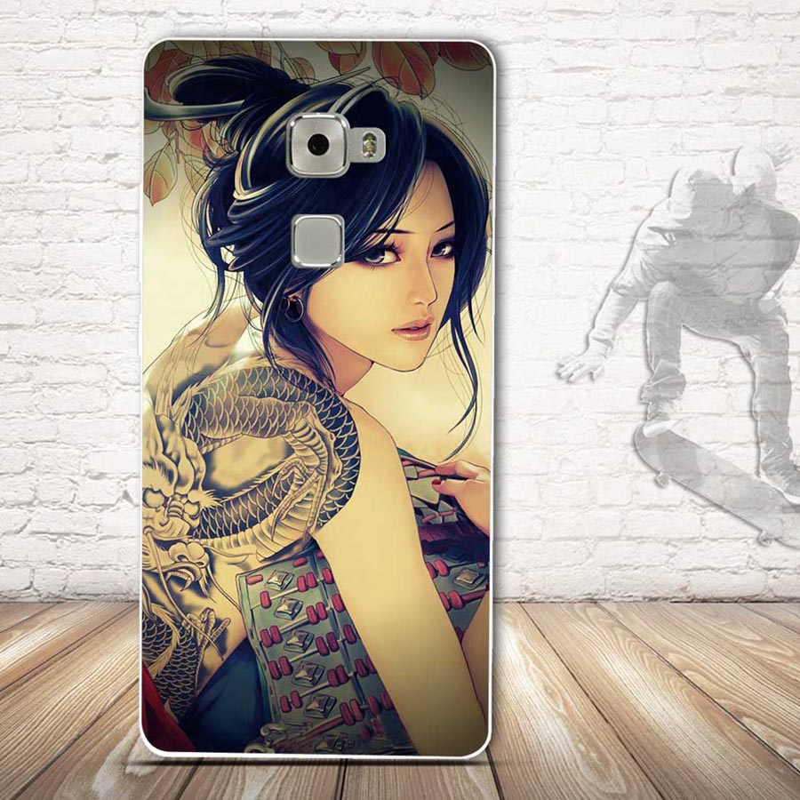 Soft TPU Case For Coque Huawei Mate S Case Silicon Back Cover For Funda Huawei Mate S Cartoon Design Case Capa