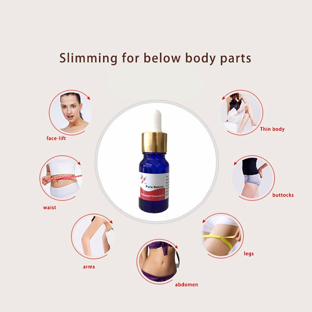 50ml Red Pepper Nutrition Diet Slimming products for weight loss Essential Oil 95% HCA 100% effective Tightening slimming Patch 5