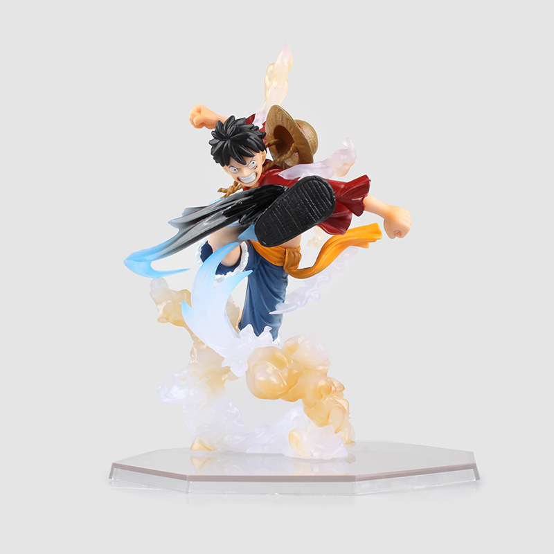 WVW 15.5CM Hot Sale Anime One Piece New World Monkey D Luffy Model PVC Toy Action Figure Decoration For Collection Gift new hot 12cm one piece boa hancock monkey d luffy modelling action figure toys collection doll christmas gift with box
