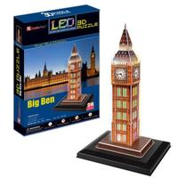 T0463 3D Puzzles London Big Ben with LED lights Building Paper Model Creative gift Children Educational toys hot sale