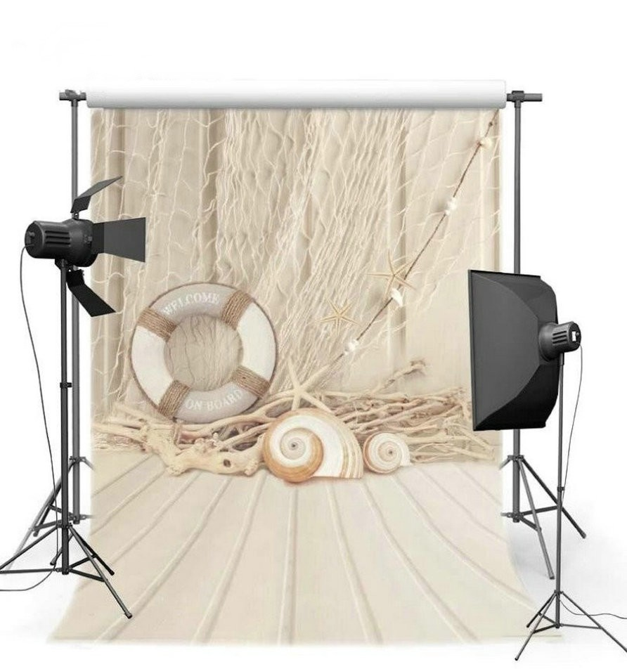 Nautical Party Picture Scene backdrops Vinyl cloth High quality Computer Print baby shower Photography Backgrounds purple lighting stage curtain star photography backgrounds high grade vinyl cloth computer printed custom backdrops