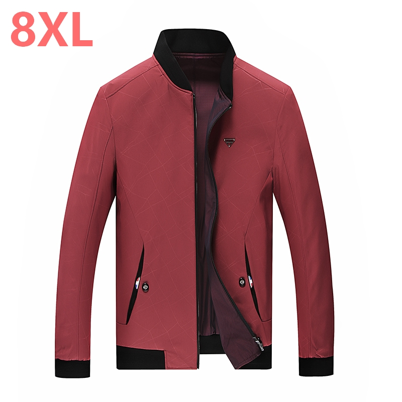 2018 New Large Size 9xl 8xl 7xl 6xl Spring Autumn Men Jackets Solid Fashion Brand Coats Male Casual Slim Jacket Men Outerdoor Online Shop