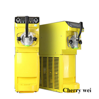 Ticari Yumuşak dondurma yapma makinesi Üç tatlar dondurma makinesi 220 V/1kw 5.5L Profesyonel Yoğurt makinesi R22