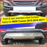 For Hyundai New Tucson 2015 2016 2017 Stainless Steel Skid Plate Bumper Protector Bull Bar 1