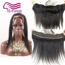 9A Brazilian Lace Frontal Closure Straight 13×2 Ear To Ear Lace Frontals With Baby Hair Virgin Human Hair Closure